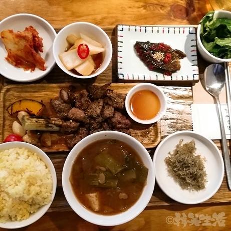 ソウル 上水 慶州食堂 モクサル定食 お一人様