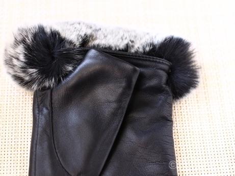 韓国 ソウル 東大門 手袋 レザー 羊革 指なし手袋