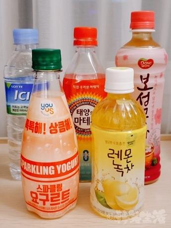 韓国 飲み物 スパークリングヤクルト お茶 マテ茶