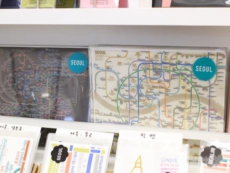韓国 路線図 地図 デザイン マウスパッド ゼロパーゼロ ゼロスペース 店舗