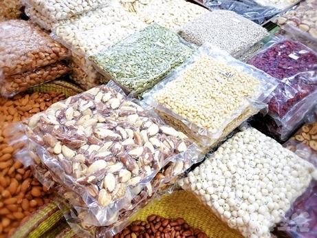 韓国 市場 中部市場 乾物 プゴク 松の実