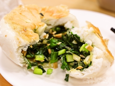 台湾グルメ 朝食 永和豆漿 民生店 松山機場 韮菜水煎包