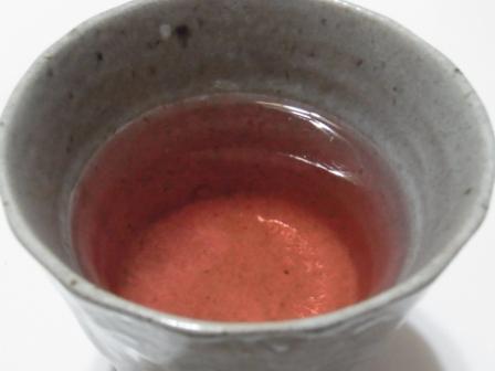 紅くてキレイなお茶に