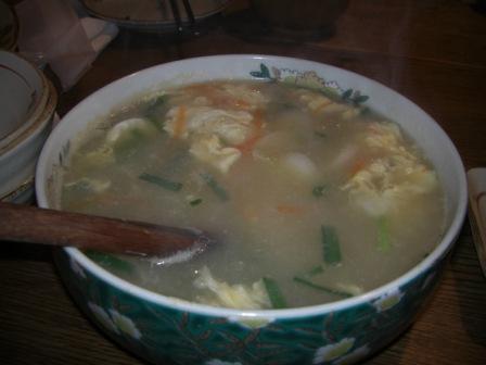 農楽-餅スープ