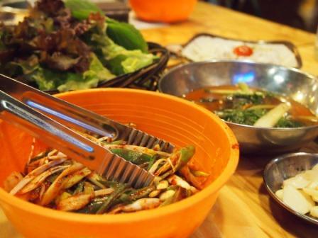 ホバク食堂-ネギサラダ