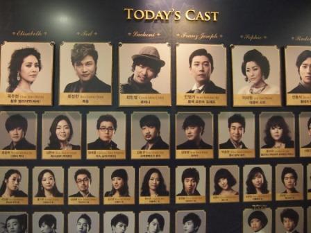 韓ミュー『エリザベート』キャスト