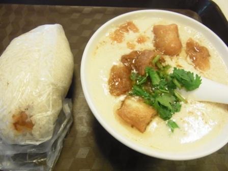 阜抗豆漿の朝食