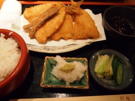 松輪-アジフライ定食