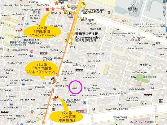 狎鴎亭ロデオ駅-地図