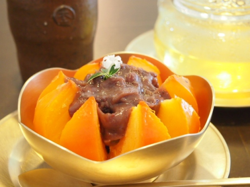 ノッグルカジロニ-小豆ソースの紅柿2
