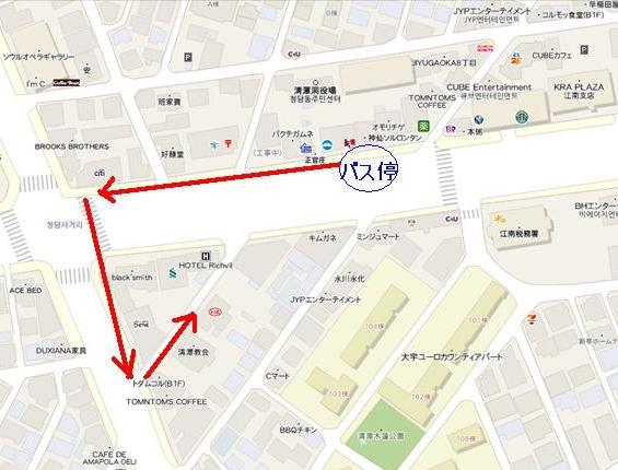 清潭サゴリ地図