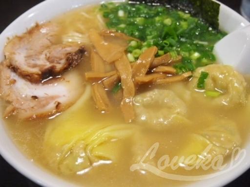 こうや-ワンタン麺1