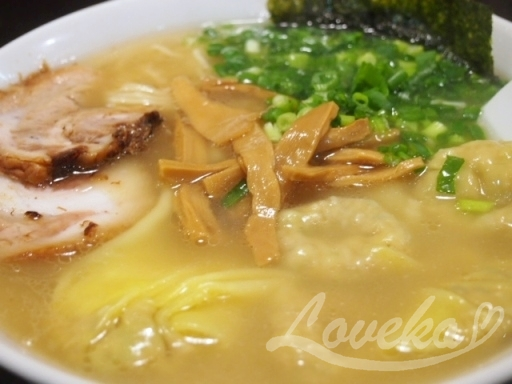 こうや-ワンタン麺2