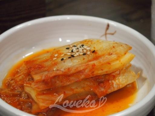 百年土種参鶏湯-キムチ