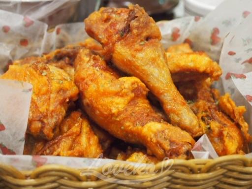 百年土種参鶏湯-フライドチキン1