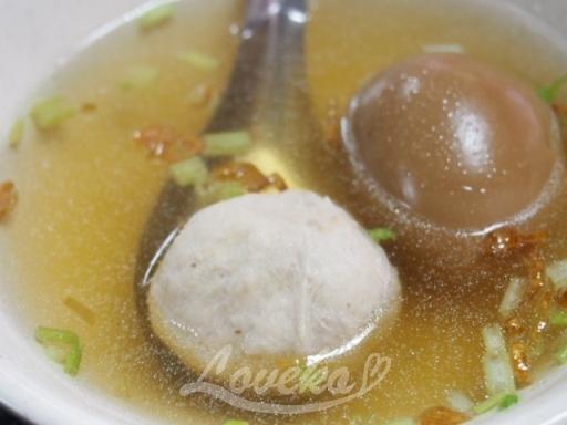 車庫油飯-魚丸湯1