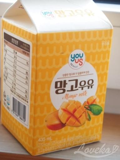 2016年8月ソウル-マンゴー牛乳