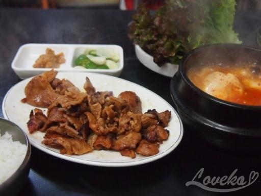 ソンジョン食堂-網焼き豚定食2