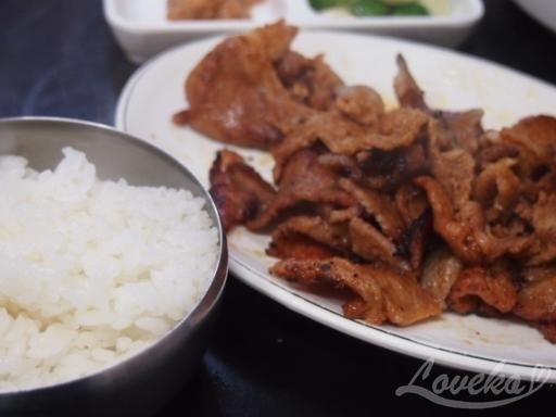 ソンジョン食堂-網焼き豚定食3