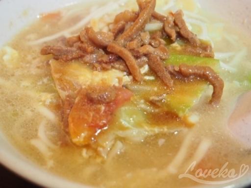 龍記-肉絲麺