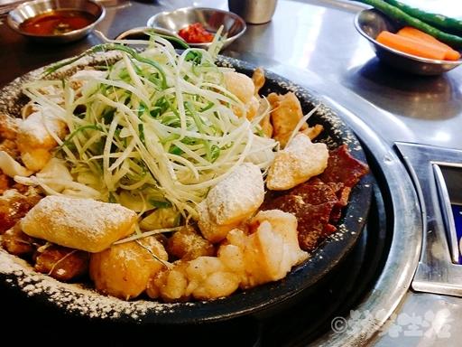 ソウル 新村 コプチャン お餅