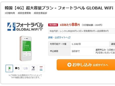 海外旅行 Wi-Fi ルーター レンタル 価格com 最安値
