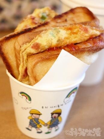 韓国グルメ ソウル 東大門 広蔵市場 トースト 広蔵トースト
