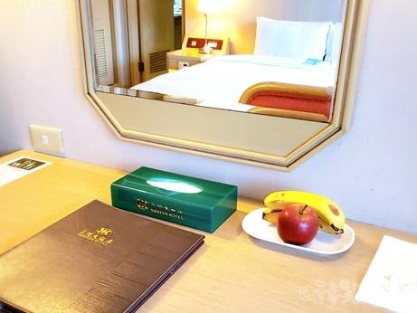 台湾旅行 ホテル 三徳大飯店 サントスホテル 民権西路 フルーツ