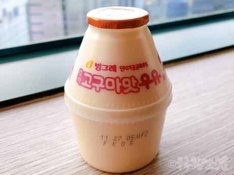 韓国 コンビニ 牛乳 コグマ牛乳 サツマイモ