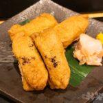 銀座 人気店 魚勝 コース いなり寿司