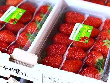 韓国スイーツ フルーツサンド 乙支路 カフェ ホランイ 苺サンド ラテ
