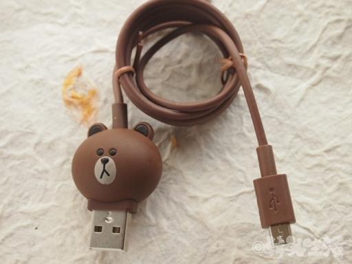 LINEフレンズ ブラウン モバイル USB