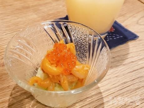 目白 グルメ 千の恵み ノドグロ炙り握り ノドグロ 寿司 いかウニ
