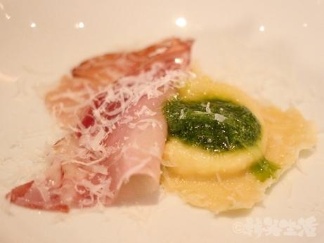 麻布十番 イタリアン ヴィアブリアンツァ VIA Brianza ディナー ラビオリチーズ