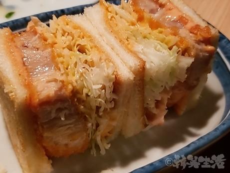 中野 レンガ坂 洋食堂 葡萄 カツサンド