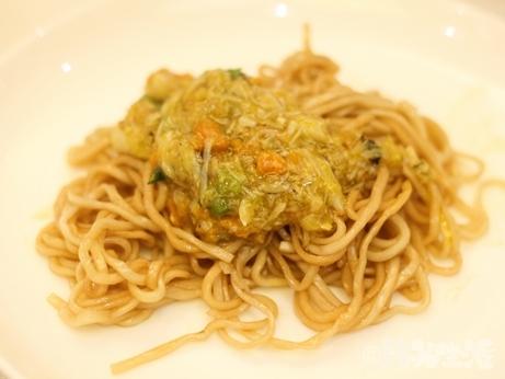 香港グルメ 湾仔 留園雅叙 上海蟹味噌麺
