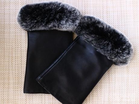 韓国 東大門 手袋 レザー 羊革 指なし 指ぬき手袋