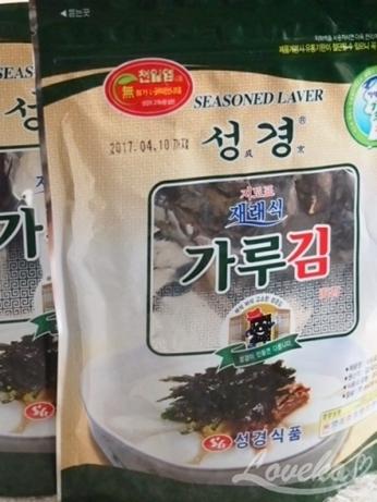 韓国 スーパー 刻み海苔 キムカル