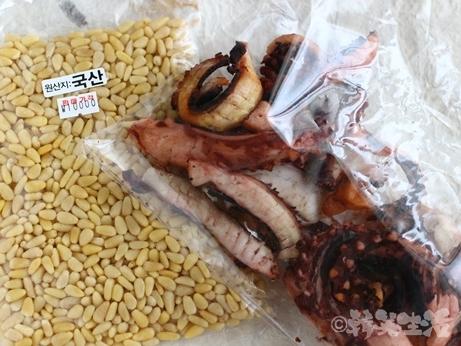 ソウル 中部市場 乾物 タコ