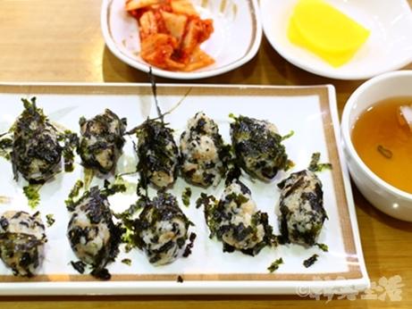 韓国 朝食 キムパ 海苔むすび