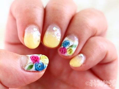 花ネイル 台湾みやげ 花柄 ボールペン