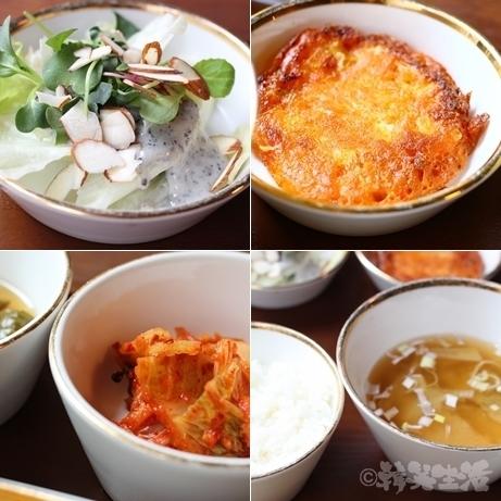 韓国 ソウルの森 トゥッソム ランチ 定食 モクサル定食 韓定食 バンチャン