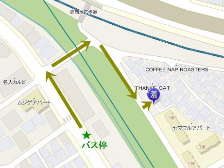 韓国スイーツ 弘大入口 カフェ フルーツサンド バス 地図
