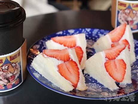 韓国スイーツ 乙支路 ホランイ フルーツサンド 苺サンド