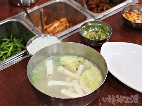 韓国グルメ 朝食 美肌スープ プゴク 明洞 干しダラ