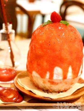 弘大 かき氷 ヨヌンダン トマトピンス