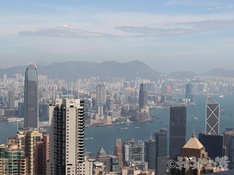 香港 観光 ビクトリアピーク 景色