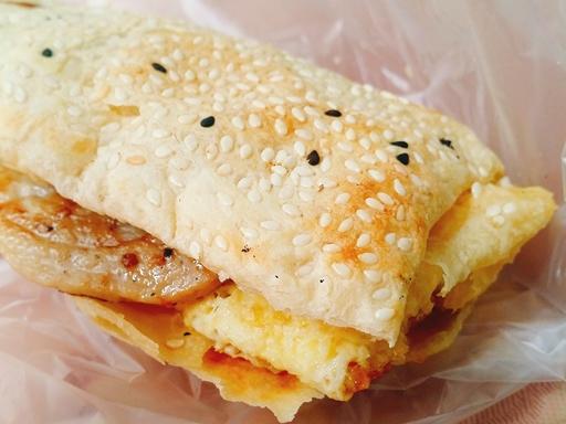台北 永和豆漿 松江南京 朝食 豚パン
