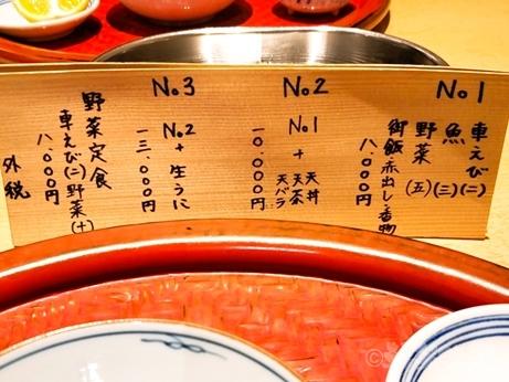 京橋 ミシュラン 天ぷら 深町 ランチ コース