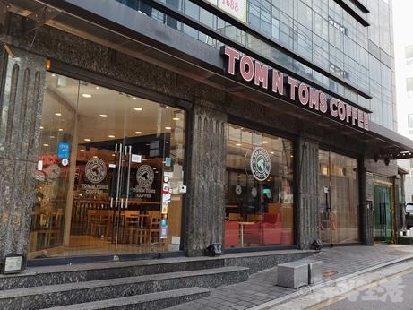 韓国 カフェ TOMN TOMS トムエントムズ 江南 芸能人 カボチャラテ